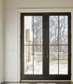 Exterior Entry Doors, Dutch Door, Sweet Home, Deck, Windows, Black And White, House Beautiful, Black N White, Front Porches