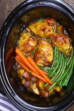 The easiest, most unbelievably delicious Slow Cooker Honey Garlic Chicken With Veggies. It's one of my favorite crock pot recipes. Succulent chicken cooked in honey, garlic, soy sauce and mixed vegetables. Preparation is an easy 15 minutes. Easy one pot recipe. Video recipe.