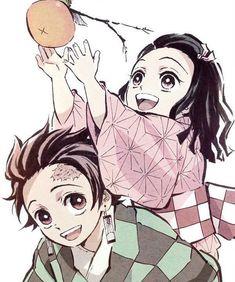 Tanjiro and Nezuko - Demon Slayer: Kimetsu no Yaiba Otaku Anime, M Anime, Anime Demon, Anime Art, Anime Girls, Anime Siblings, Anime Couples, Manga Dragon, Goku Manga