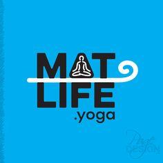 MatLife.yoga logo design, NZ Yoga Logo, Page Design, Company Logo, Graphic Design, Logos, Life, Logo, Visual Communication