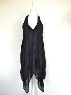 Maje Black Silk V Neck Full Pleated  Dress via The Queen Bee. Click on the image to see more!