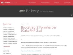 CakePHP 2.x Helpers for Bootstrap 3