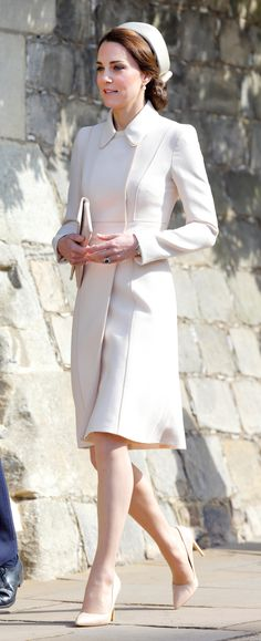 Kate Middleton Attends Easter Sunday Church Service 2017