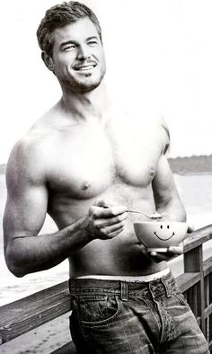 Eric Dane!  I'd be smiling too if I were that bowl!