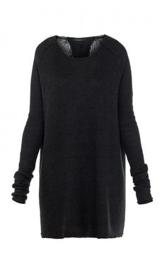 Czarny sweter oversize BLACK LABEL, ZUO CORP+
