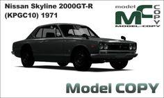 Nissan Skyline 2000GT-R (KPGC10) 1971 - 3D Model (3ds, 3dm, dwg, igs, max, obj, stl, ipt, ma) Nissan Skyline, Autocad, Gta, Autodesk Inventor, 3d Modelle, Alfa Romeo Giulia, 3d Studio, Cinema 4d, Scale Models