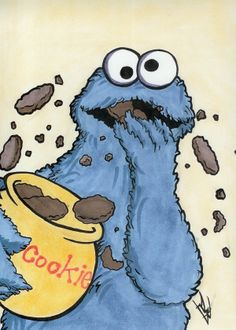 monster drawing | Marker - Cookie Monster by ~DarkDorArt on deviantART