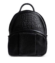 Alexander Wang Black Leather Dumbo Backpack