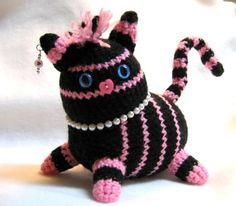 Sophisticated Punk Rock Kitty - CROCHET