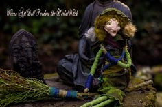Wiccan art doll Herbal witch  Hedgewitch Feodora by WiccanDolls on Etsy