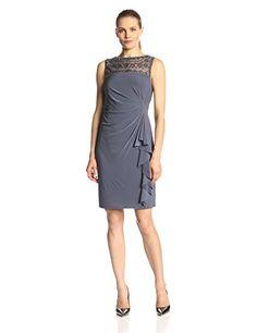 $72 Jessica Howard Women's Sleeveless Beaded Illusion Neck Side Tucked Dress, Grey, 12 Jessica Howard http://www.amazon.com/dp/B00JL4L84S/ref=cm_sw_r_pi_dp_SWI5vb05PXPYX