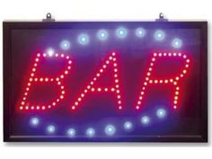 LED signs for bars, shops or even just for your house! Click through to go to the shop! #signs #led #lighting #wigan