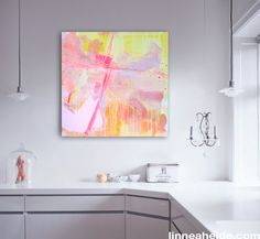 Colorful Original Abstract Painting  by linneaheideart on Etsy, $200.00 #art #painting #abstract
