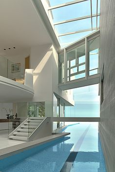 Indoor pools are just so chic. #architecture