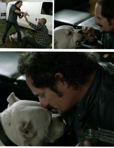 Compassion. Loved it when tig saved the dog! Sons of anarchy