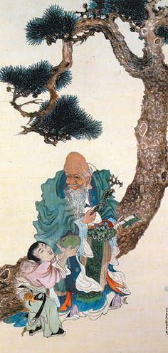 Spring's South Pole Star - Owon - - Joseon Dynasty (Korean) Korean Art, Asian Art, Arte Latina, Korean Painting, Chinese Painting, Bamboo Art, Pole Star, Bonsai Art, Oriental