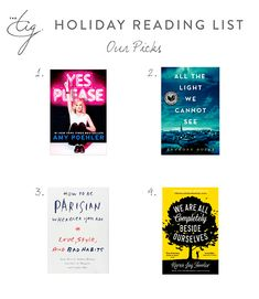 Holiday Reading List - The Tig Reading Lists, Book Lists, The Tig Meghan Markle, Books To Read, My Books, Day Off Work, Library Inspiration, Prince Harry And Meghan, Princess Meghan