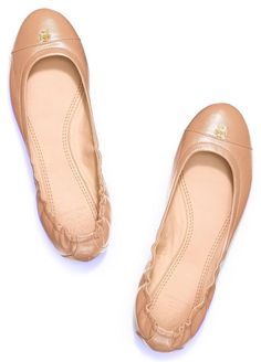 f45f9f2fa6c00e Tory Burch Camellia Pink - Nude York Ballet Leather Flats Size US 8 Regular  (M
