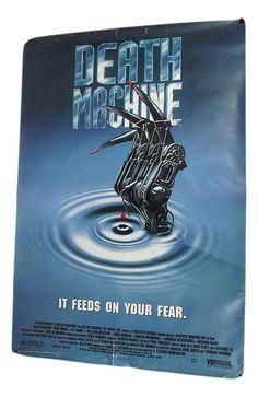 Death Machine 1994  vintage video store poster British science fiction film UK #MoviePoster #VintageMoviePoster #MotorCityMarket #horror
