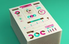 """Isobel Rodrigues/Sweet Branding Studio.   Infographe – Consumo no Brazil.  They say, """"We made this infographic for Infographe ®, statistical consulting firm that works primarily in the Brazilian market. The goal was to illustrate the Brazilian consumption in various areas and genders. We worked with a lot of saturated colors and simple elements, transforming the infographic in a very personal piece and giving it to our identity."""""""