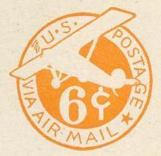 Stamp catalog : Stamp ‹ US Postage via Air Mail Seal