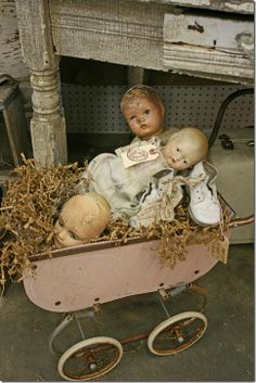 Old baby dolls that belonged to my mom and her sisters