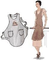 1920 bias cut apron - site with free vintage sewing patterns