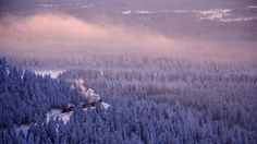 The Brocken Railway line in the Harz mountain range of Germany (© Rudi Sebastian/age fotostock)