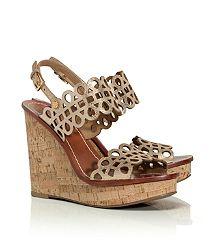 Tory Burch Wedge http://www.toryburch.com/nori-metallic-wedge-sandal/51138315.html?dwvar_51138315_color=030&start=7&cgid=shoes-wedges