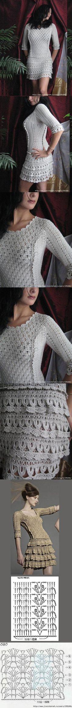 O vestido eu não gostei muito, mas os pontos são bem bonitos.
