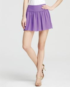 Exclusive Caressa Wide Band Mini Flare Skirt