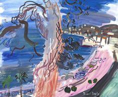 enginkid88modern: RAOUL DUFY (1877-1953) - NICE, LA PROMENADE...