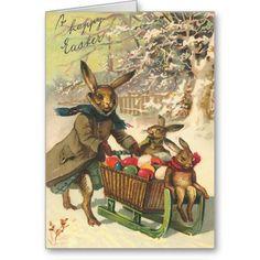Vintage Easter Cards | Vintage Easter Bunny Card