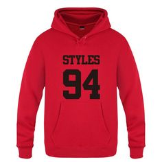 Mens Hoodies Harry Styles 94 One Direction 1D Hoodie Men Hip Hop Fleece Long Sleeve Men's Sweatshirt Skate Tracksuit Moletom Hot #Affiliate