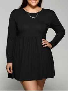 GET $50 NOW | Join RoseGal: Get YOUR $50 NOW!http://m.rosegal.com/plus-size-dresses/plus-size-long-sleeve-pleated-735005.html?seid=8236597rg735005