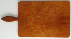 Cherry Burl cutting board, vegetable board, with carved handle