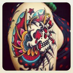 #butterfly #skull #reikotattoo