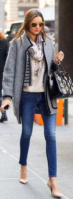 Street Style Inspiration - Miranda Kerr-blush shoes