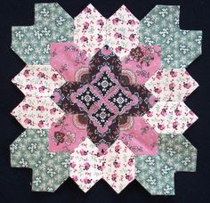 Lucy Boston block 6 by Muriel for POTC Blog Along at Little Quilts