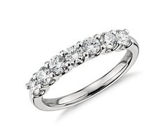 U-Prong Seven Stone Diamond Ring in Platinum (1 ct tw) #bluenile