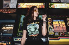 arcade photoshoot Photography Themes, Urban Photography, Aesthetic Photo, Aesthetic Girl, Arcade, Videogames, Photoshoot Themes, Best Portraits, Games For Girls
