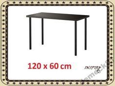 IKEA LINNMON/ADILS Stół Biurko 120x60 cm CZARNY FV