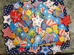 Happy 4th of July!!!! {sugar cookies}