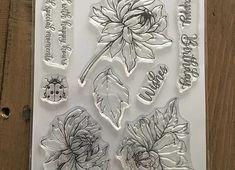 PINK FROG STAMPS - CHRYSANTHEMUM -PRE ORDER | Dragons paper craft £14.95 Chrysanthemum, A5, Dragons, Stamps, Paper Crafts, Crafty, Abstract, Artwork, Pink