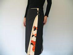 antique kimono ribbon wrap skirt  Via assemblage