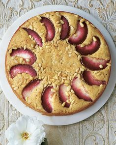 This is such a wonderful cake that's made even more brilliant by the addition of pine nuts!