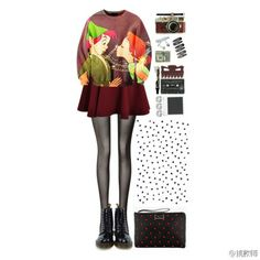2014#Women #Blouse  Cattoon Blouse Collection,Fatastic Sweater +Short Skirt for Girls