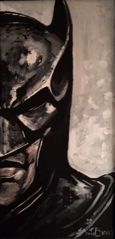 """I'm Batman"" acrylic on canvas by Bill Bishop"