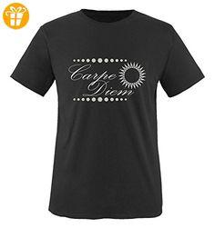 Comedy Shirts - Carpe Diem - Sonne - Jungen T-Shirt - Schwarz / Silber Gr. 152-164 - Shirts mit spruch (*Partner-Link)