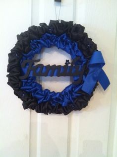 Thin Blue Line police wreath! police family, door decor